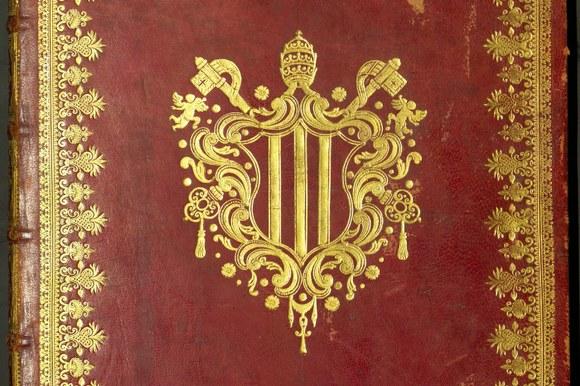 Benedetto XIV piatto anteriore con stemma