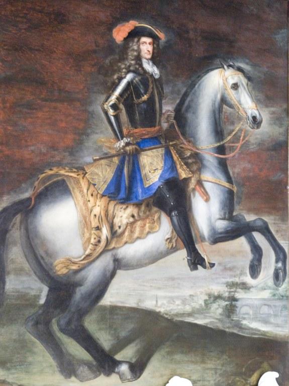Ritratto di Luigi Ferdinando Marsili a cavallo