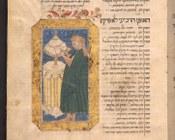 Medicina, Canon medicinae o Canone di Avicenna | c.4r, miniatura raffigurante Avicenna che scrive la sua opera