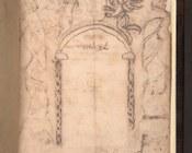 Raccolta di testi della Qabbalah luriana | verso del frontespizio con disegni a inchiostro e note manoscritte