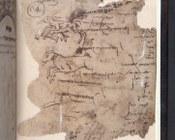 Raccolta di testi della Qabbalah luriana | c. di guardia con disegni a inchiostro e note manoscritte